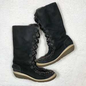 Timberland Leather Lace Up Winter Boots